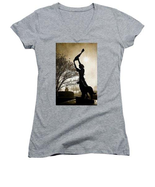 44 Years Of Waving Women's V-Neck T-Shirt (Junior Cut)