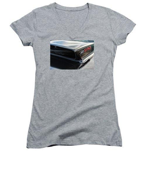 Women's V-Neck T-Shirt (Junior Cut) featuring the photograph 440 Sixpack by Brad Allen Fine Art
