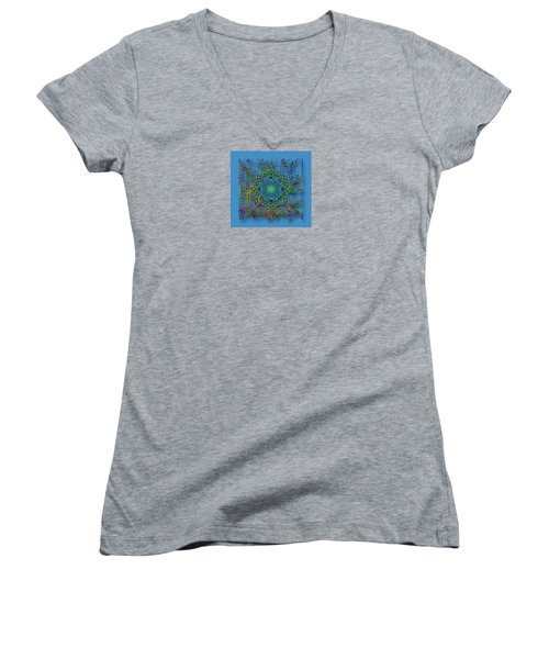 Women's V-Neck T-Shirt (Junior Cut) featuring the photograph 4402 by Peter Holme III