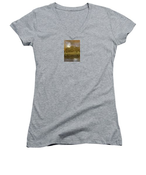 Women's V-Neck T-Shirt (Junior Cut) featuring the photograph 4411 by Peter Holme III