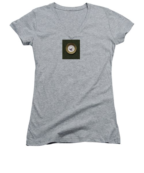 Women's V-Neck T-Shirt (Junior Cut) featuring the photograph 4424 by Peter Holme III