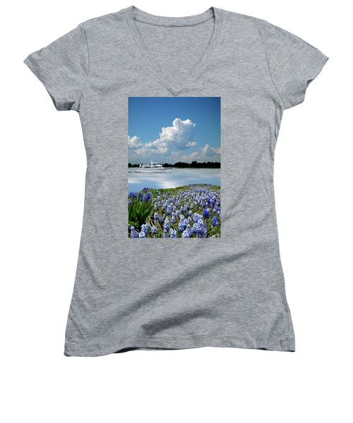 Women's V-Neck T-Shirt featuring the photograph 4464 by Peter Holme III