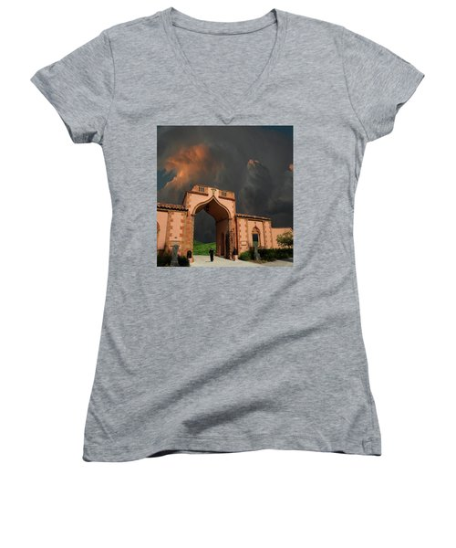 Women's V-Neck T-Shirt featuring the photograph 4470 by Peter Holme III