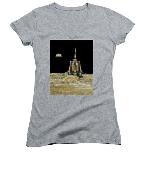 Women's V-Neck T-Shirt featuring the photograph 4481 by Peter Holme III
