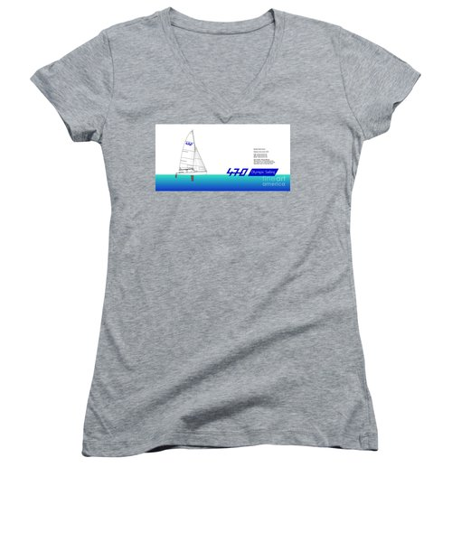 470 Olympic Sailing Women's V-Neck (Athletic Fit)