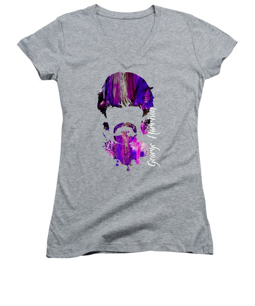 George Harrison Collection Women's V-Neck T-Shirt