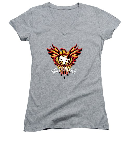 49er Phoenix  Women's V-Neck T-Shirt