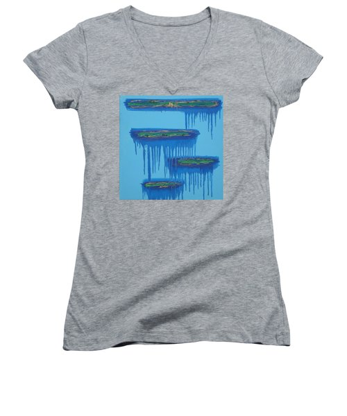 4levels4fellings4you Women's V-Neck T-Shirt