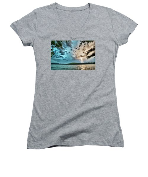 Beautiful Landscape Scenes At Lake Jocassee South Carolina Women's V-Neck
