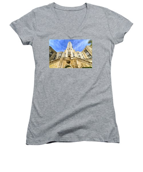 Cathedral Of Learning Women's V-Neck