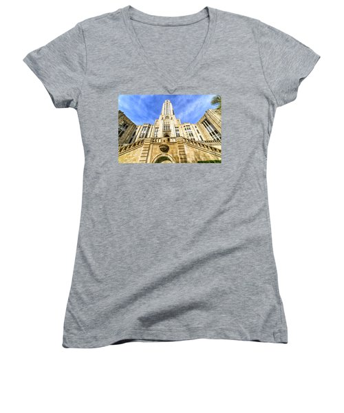 Cathedral Of Learning Women's V-Neck (Athletic Fit)
