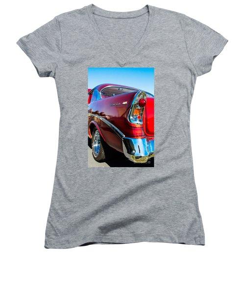 56 Chevy Bel Air Women's V-Neck