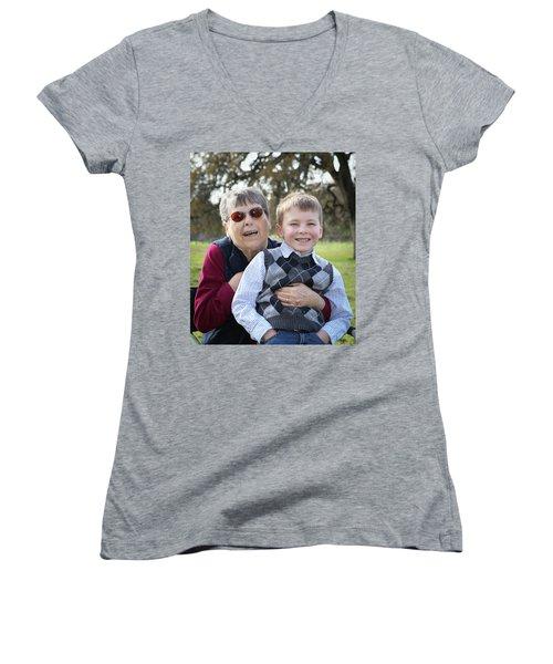 5 Women's V-Neck T-Shirt (Junior Cut) by Diane Bohna