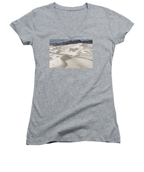 Women's V-Neck featuring the photograph Dumont Dunes 5 by Jim Thompson