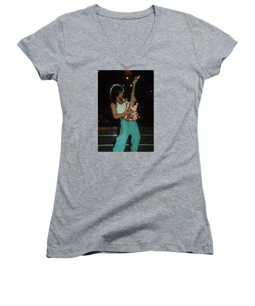 Eddie Van Halen Women's V-Neck