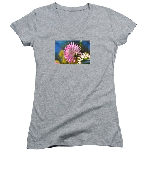 Women's V-Neck T-Shirt (Junior Cut) featuring the photograph Flower Edition by Bernd Hau