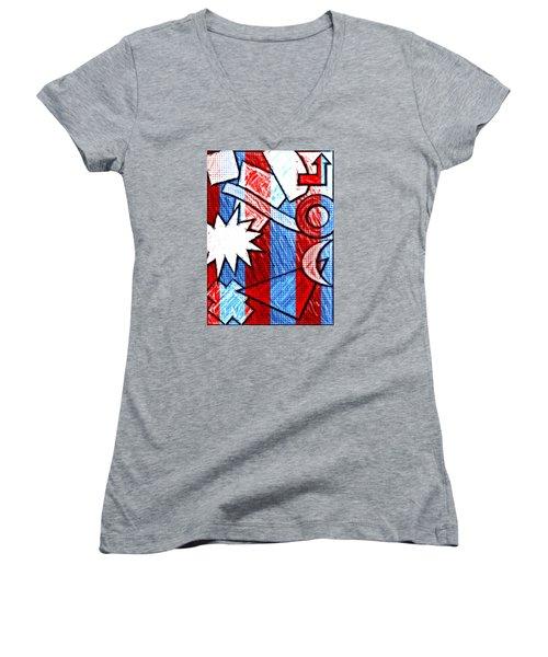 Funky Fanfare Women's V-Neck T-Shirt