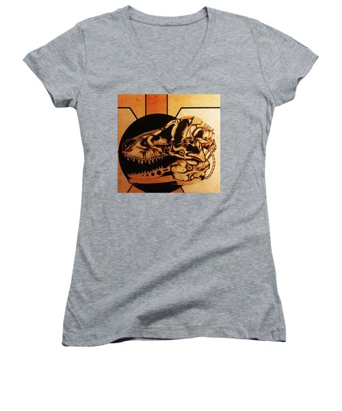 Untitled Women's V-Neck T-Shirt (Junior Cut) by Jeff DOttavio