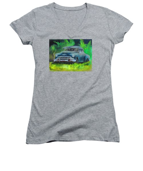 50 Chevy Women's V-Neck T-Shirt