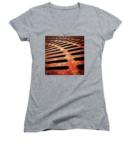 Iron Detail Women's V-Neck T-Shirt
