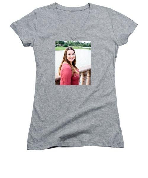 Women's V-Neck T-Shirt (Junior Cut) featuring the photograph 5611 by Teresa Blanton