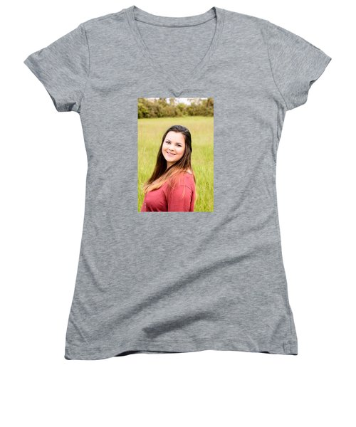 Women's V-Neck T-Shirt (Junior Cut) featuring the photograph 5617 by Teresa Blanton
