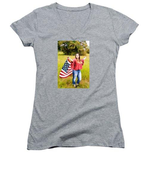 Women's V-Neck T-Shirt (Junior Cut) featuring the photograph 5649 by Teresa Blanton