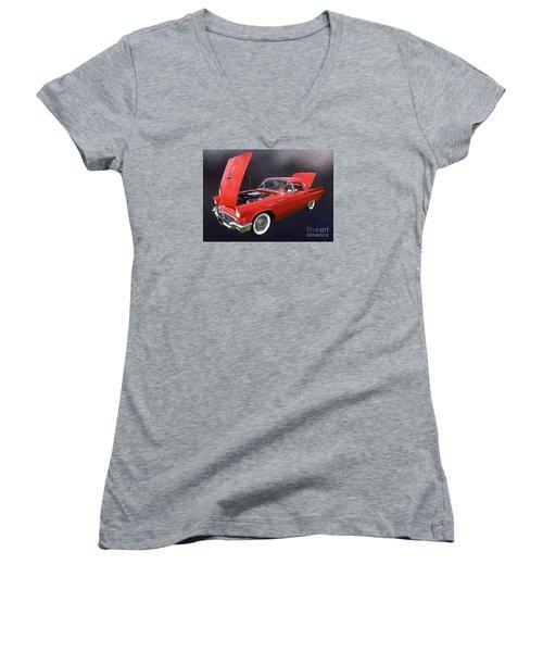 57 Thunderbird Women's V-Neck T-Shirt