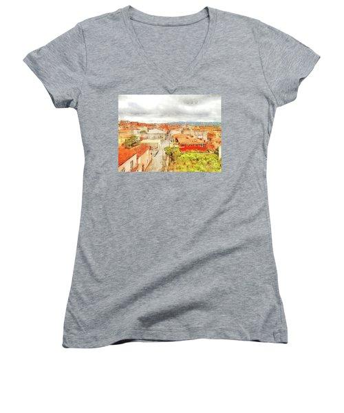 Arzachena Urban Landscape Women's V-Neck T-Shirt