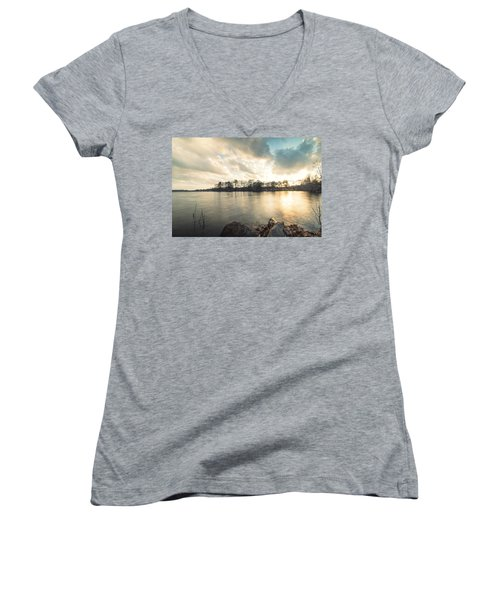 Lake Sunset Women's V-Neck