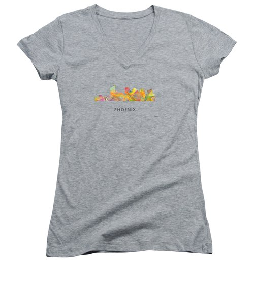 Phoenix Arizona Skyline Women's V-Neck (Athletic Fit)