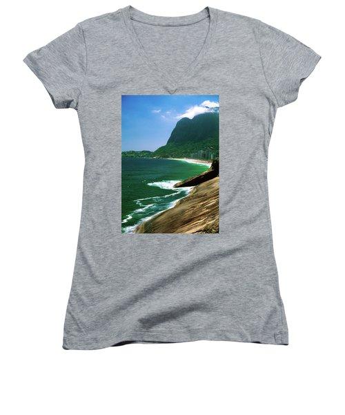 Rio De Janeiro Brazil Women's V-Neck T-Shirt (Junior Cut) by Utah Images