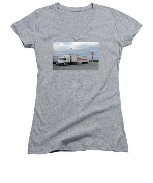 Route 66 - Dixie Truckers Home Women's V-Neck