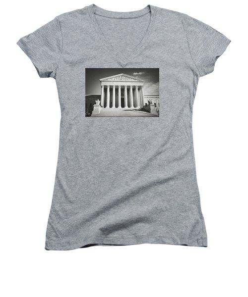 Supreme Court Building Women's V-Neck