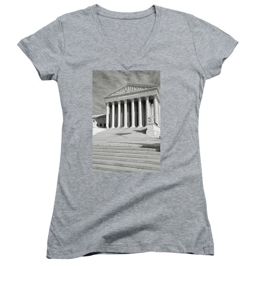 Supreme Court Of The Usa Women's V-Neck (Athletic Fit)