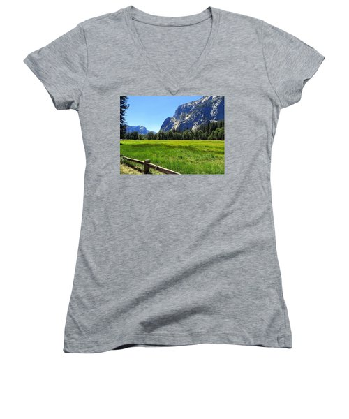 Yosemite Meadow Photograph Women's V-Neck