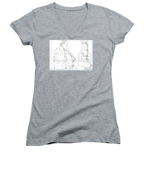 600 Ton Coaling Tower Plans Women's V-Neck (Athletic Fit)