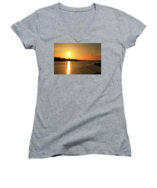 6.25am Women's V-Neck T-Shirt (Junior Cut) by Martina Fagan