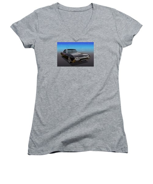 Women's V-Neck T-Shirt (Junior Cut) featuring the photograph 63 Bird by Keith Hawley