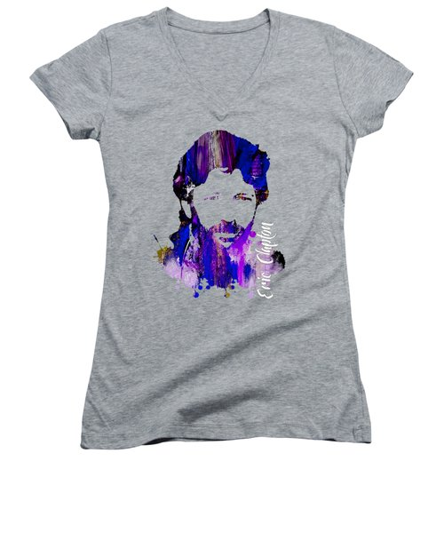Eric Clapton Collection Women's V-Neck T-Shirt