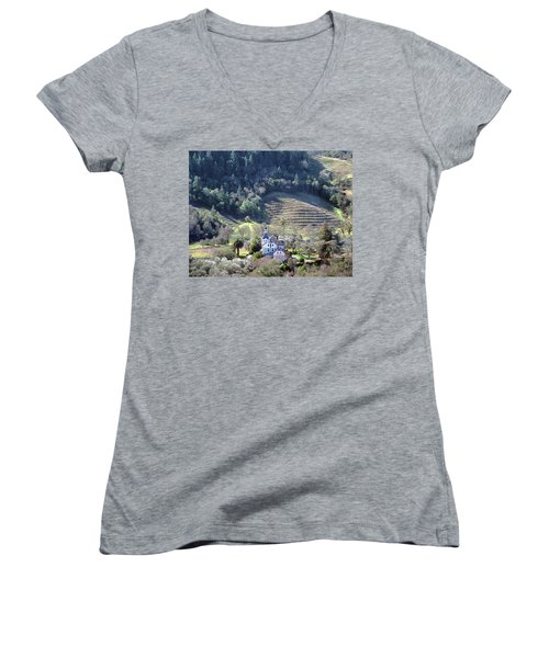 6b6312 Falcon Crest Winery Grounds Women's V-Neck