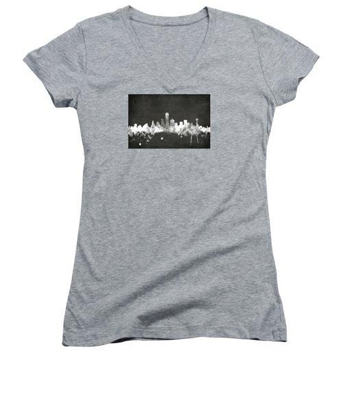 Dallas Texas Skyline Women's V-Neck T-Shirt