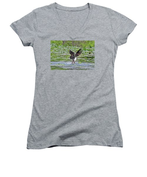 Osprey Fishing Women's V-Neck T-Shirt