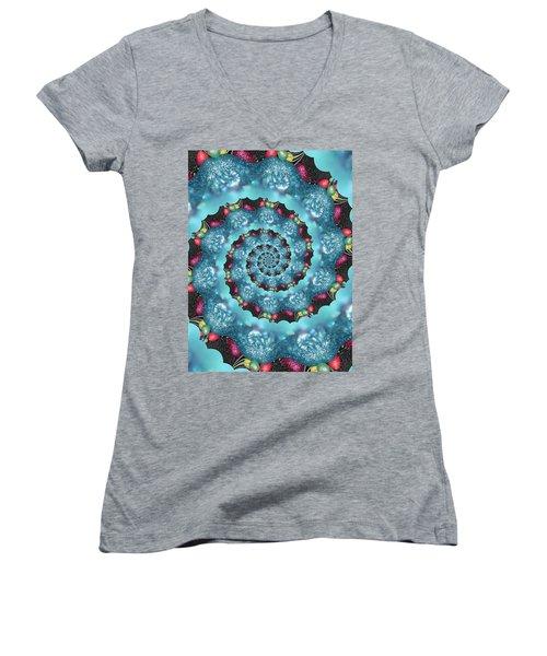 Phone Cases Women's V-Neck T-Shirt (Junior Cut) by Debra     Vatalaro