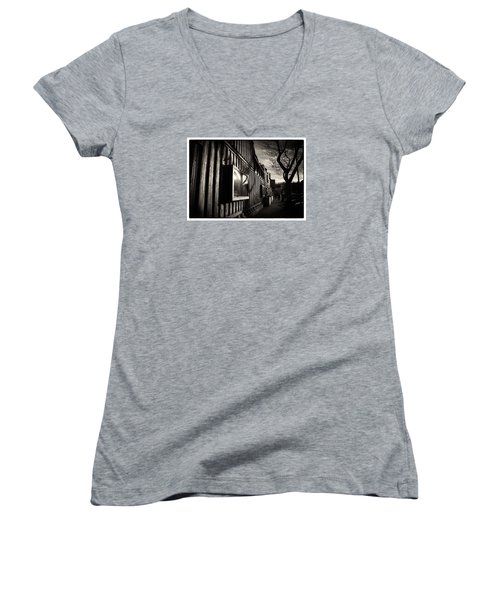 Pop Brixton - Spiral Staircase - Industrial Style Women's V-Neck T-Shirt