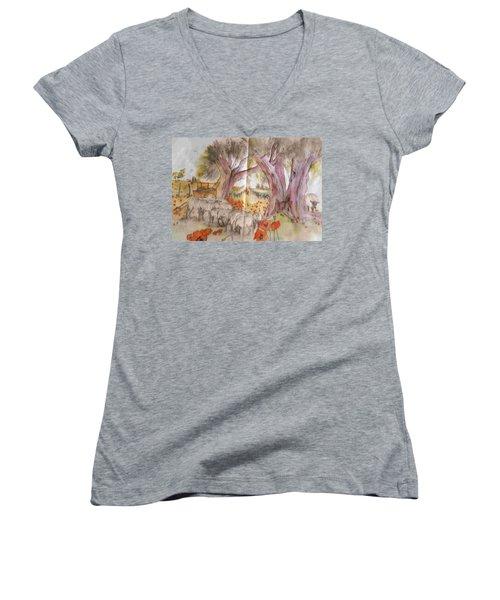 Trees Trees Trees Album Women's V-Neck T-Shirt (Junior Cut)