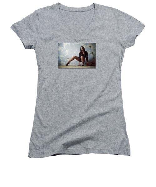 Waiting For.. Women's V-Neck T-Shirt