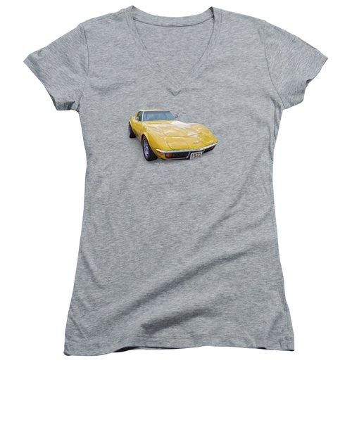 72 Corvette Women's V-Neck (Athletic Fit)
