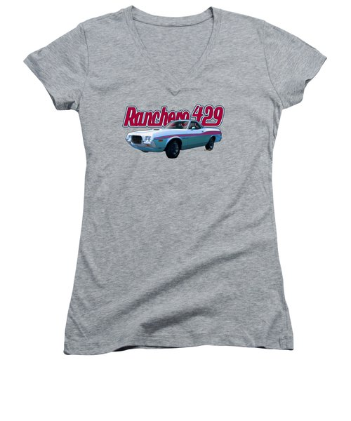 72 Ford Ranchero By The Sea Women's V-Neck (Athletic Fit)