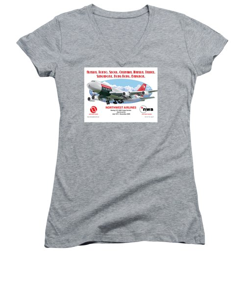 747 Women's V-Neck (Athletic Fit)